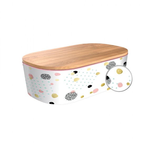 Lunchbox Deluxe Dotted Pattern - Gold